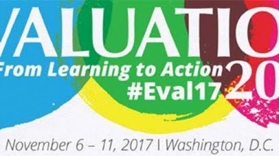 We're in Washington D.C. for AEA's Evaluation 2017!