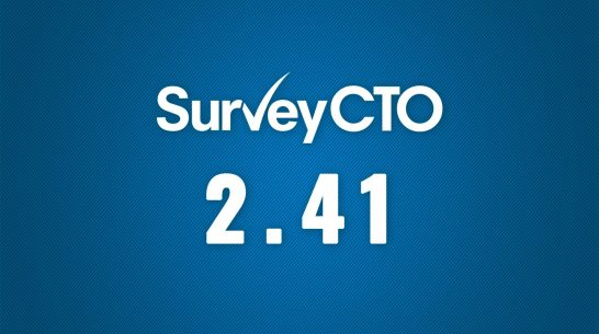 The new SurveyCTO 2.41: Amping up data quality