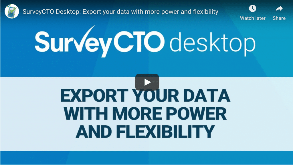 Export your data