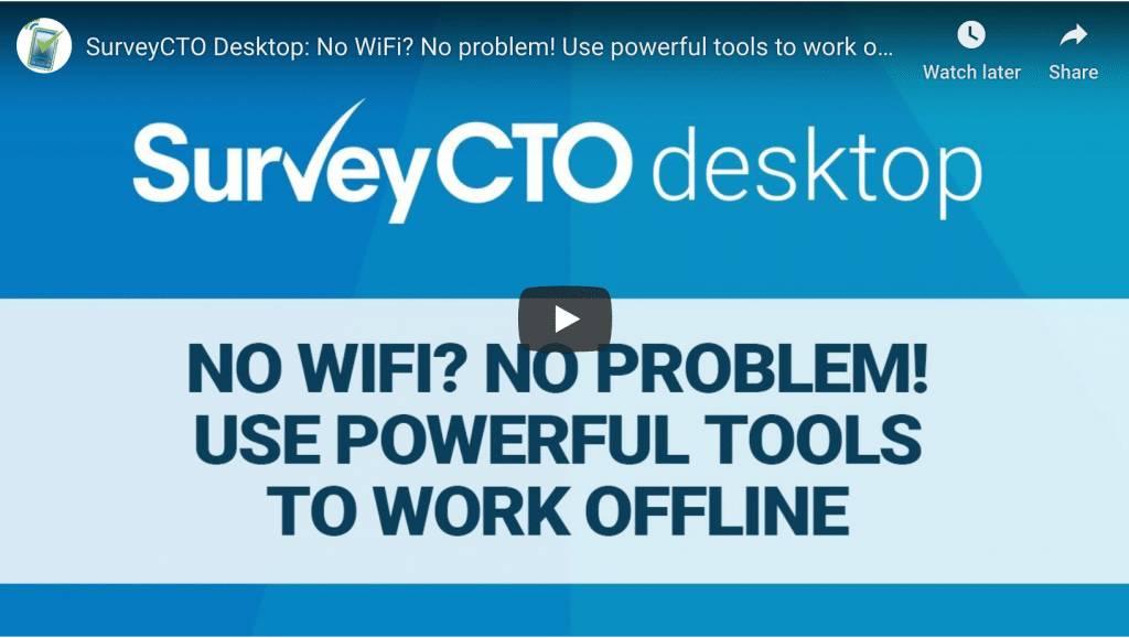 Powerful tools to work offline