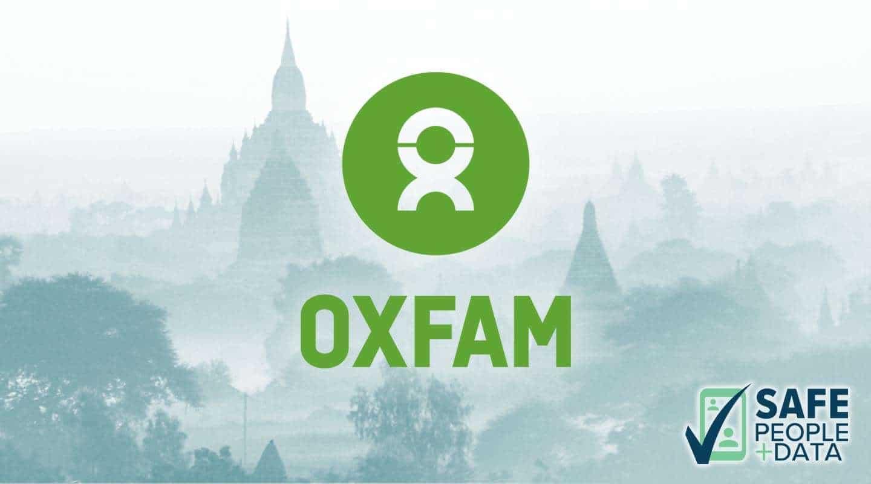 oxfam enumerator collecting data